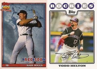 Wade Boggs and Todd Helton